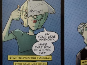 Harold Chu, from Image Comics' Chew #31, page 2. Art and color by Rob Guillory, script and lettering by John Layman.