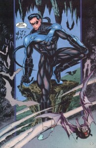 Nightwing Vol 1 #2. Dennis O'Neil (writer), Greg Land (pencils), Mike Sellers (inks). DC Comics, 1995