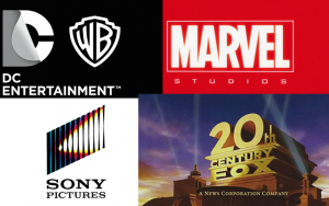 DC. Warner Bros. Marvel Studios. 20th Century Fox. Marvel. Film. Studios. Logos.