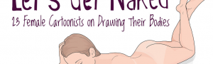 Banner: screen shot crop from Kristen Radtke & Buzzfeed's 23 Female Cartoonists On Drawing Their Bodies