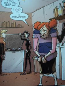 The antagonist of Image Comics' Chew #29, scan taken from page 16. Art and color by Rob Guillory, script and lettering by John Layman.