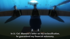 The Major's military ownership, Motoko Kusanagi, Ghost in the Shell: Arise, Production IG, 2013