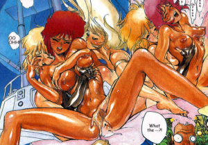 Motoko Kusanagi, The major, having sex, Ghost in the Shell manga,攻殻機動隊, Kōkaku Kidōtai, Shirow Masamune, Kodansha,