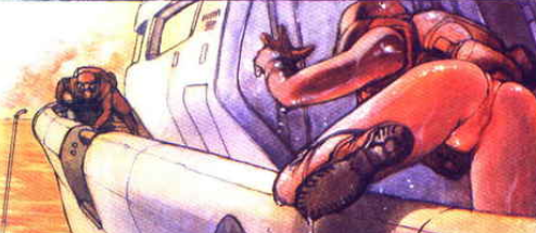 The Major's undercarriage, Ghost in the Shell manga,攻殻機動隊, Kōkaku Kidōtai, Shirow Masamune, Kodansha,