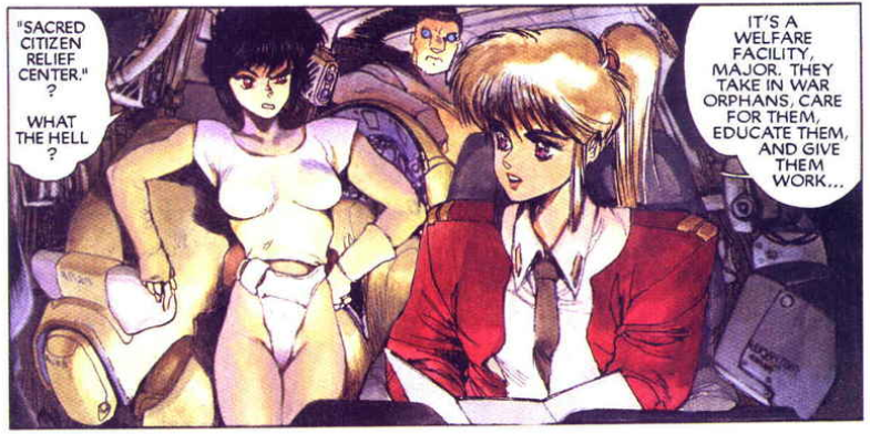 Motoko Kusanagi, The major, specops bodysuit, Ghost in the Shell manga,攻殻機動隊, Kōkaku Kidōtai, Shirow Masamune, Kodansha,