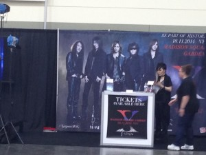 The mysterious X Japan booth.