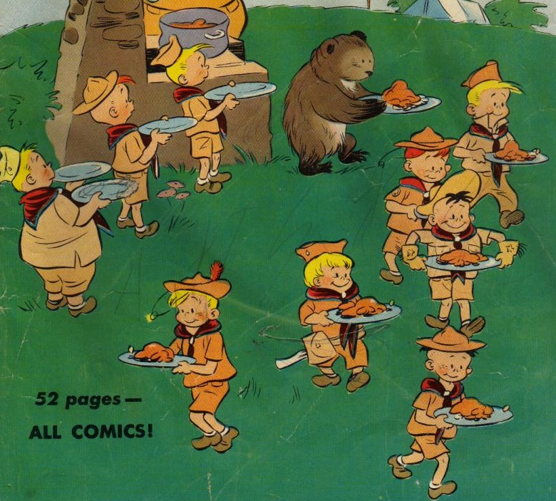 picnic, boy scouts, four color comics, http://comicbookplus.com/