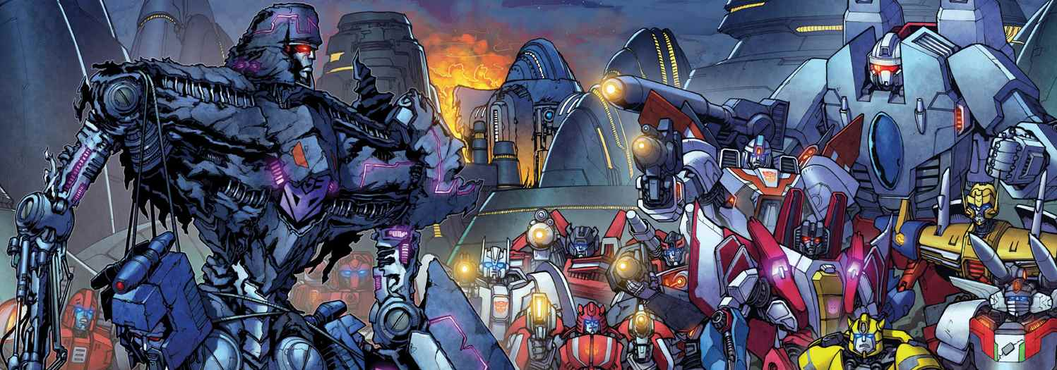 spread from Robots in Disguise, IDW, 2012