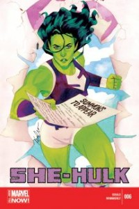 She-Hulk. Marvel Comics. Marvel. Written by Charles Soule. Art by Ronald Wimberly. Cover by Kevin Wada. July 16 2014.