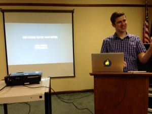 Doctoral candidate Kyle Meikle talks about comic book movies.