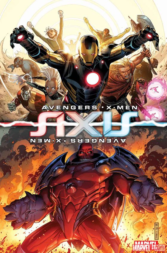 Avengers/X-Men Axis #1. W: Rick Remender A: Jim Cheung. Marvel Comics 2014.