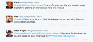 Screenshot. Twitter. C.L. Parks. Christy Parks. September 9, 2014.