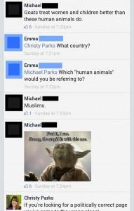 """Screenshot. Facebook. Christy """"C.L."""" Parks. Sunday September 7th, 2014."""