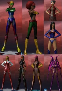 Just a few of my City of Heroes/Villains characters