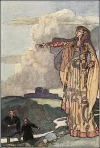 """Macha Curses the Men of Ulster"", illustration by Stephen Reid from Eleanor Hull's The Boys' Cuchulainn, 1904"