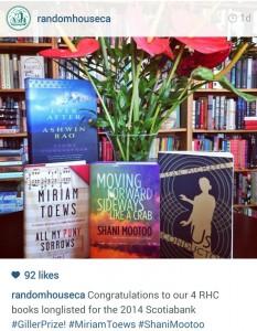 Random House Canada. September 16 2014. Instagram.