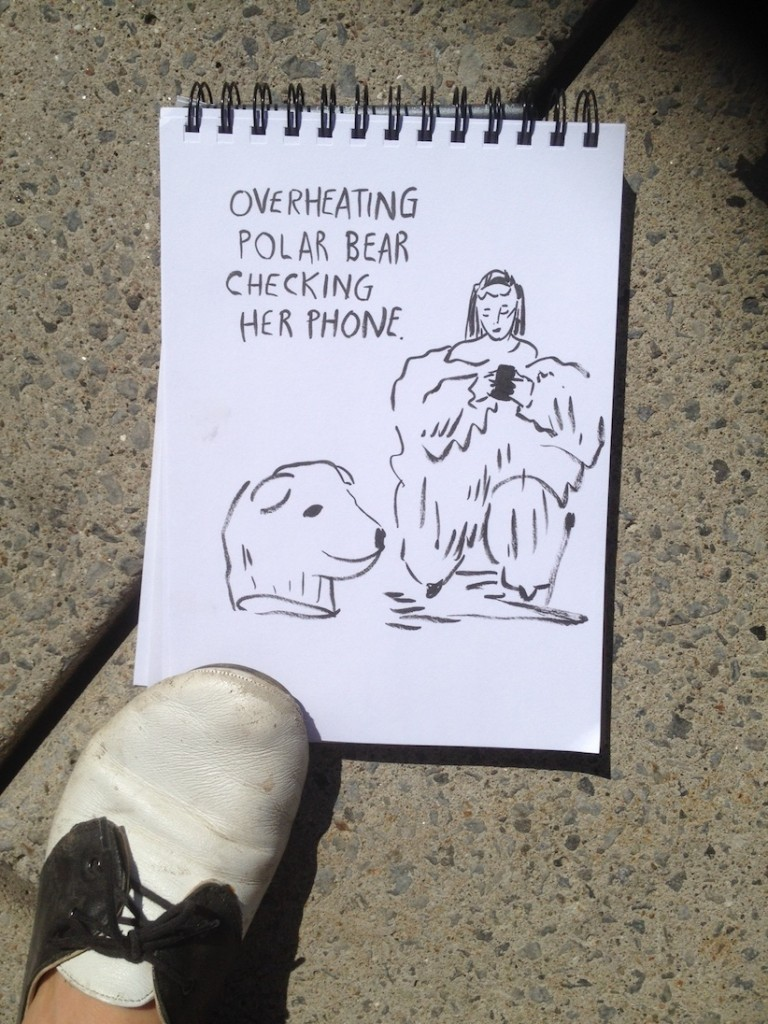Sarah Lazarovic Live-Sketched the People's Climate March in Toronto