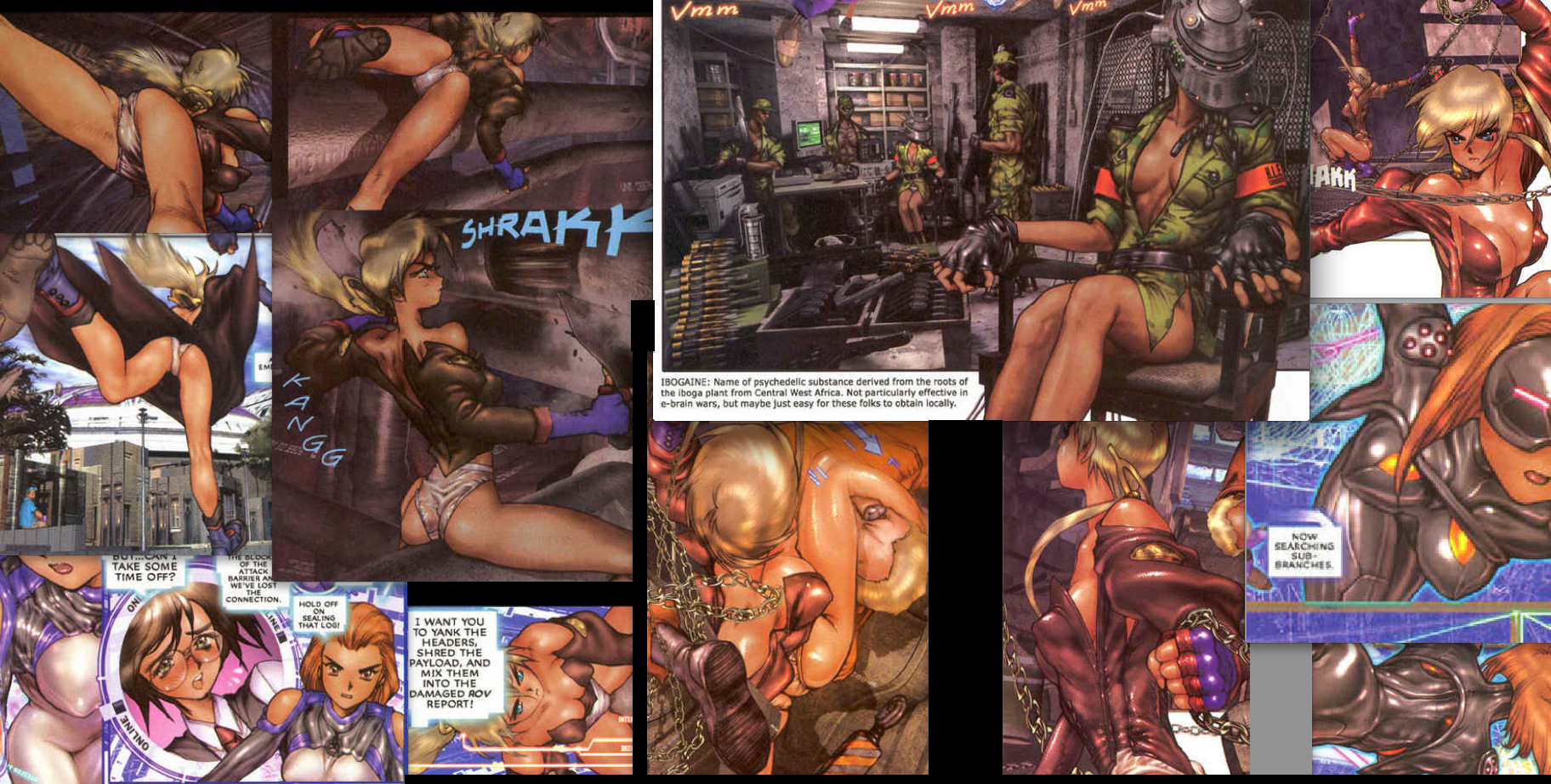 Motoko Aramaki, Ghost in the Shell 2: man/machine interface manga comic, Young Magazine, Dark Horse Comics, 1991 -- 2003