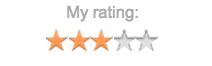 Goodreads Rating. Screencap. Three Stars.