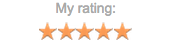 Goodreads Rating. Screencap. Five Stars.