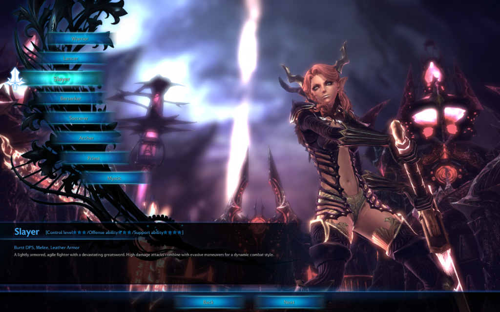 TERA Online class selection