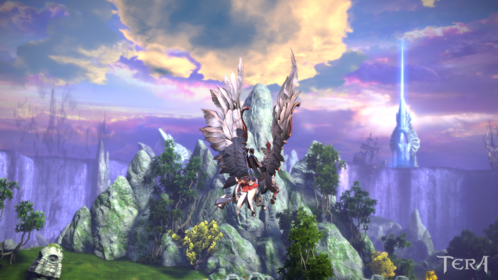 Enjoying the scenery in TERA