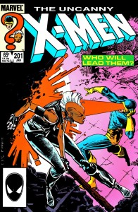 The Uncanny X-Men. Issue #201 Duel. January 1, 1986. Chris Claremont. Cover Art and Interior Art by Rick Leonardi. Marvel Comics.