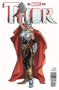 Thor #1. Writer: Jason Aaron. Variant Cover: Sara Pichelli. Color: Matt Wilson. Marvel, 2014.