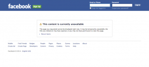 "Screenshot. Facebook. Christy ""C.L."" Parks. Unavailable Facebook Page."