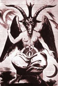 Baphomet or Sabbatic Goat by Eliphas Levi, 19th century