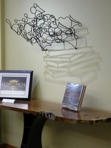 Book Shadow Sculpture by Amy Catherine