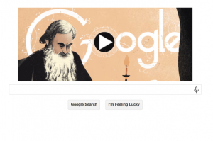 Leo Tolstoy. September 9th 2014. Google. Google Doodle.
