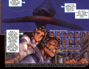 footnotes, Ghost in the Shell 2: man-machine interface manga comic, Young Magazine, Dark Horse Comics, 1991 -- 2003