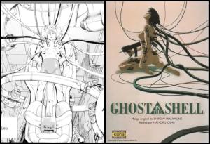 (left) Pluto Volume 1  Naoki Urasawa Shogakukan / Viz Media 2003 (Right) Ghost in the Shell  Masamune Shirow Kana, 1996