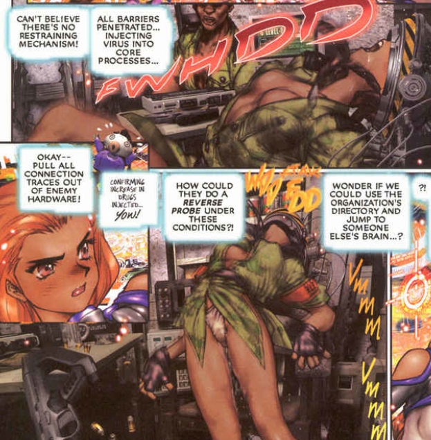 practically airplane, Ghost in the Shell 2: man-machine interface manga comic, Young Magazine, Dark Horse Comics, 1991 -- 2003