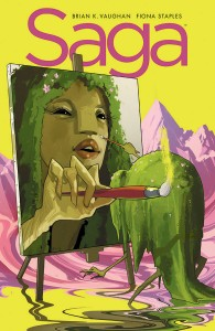 Saga #23 cover by Fiona Staples, published by Image Comics, 2014.
