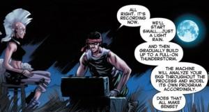 Storm #3 - weather machine panel, Marvel 2014