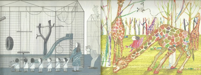 the zoo, suzy lee, kane/miller