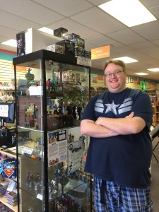 Nick Budd, manager of Rogue Comics and Gallery, Roundrock, TX