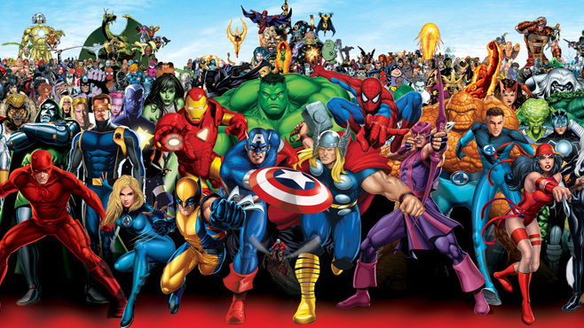 Marvel Superhero lineup, Superheroes, Marvel Comics, Disney Entertainment, 2014