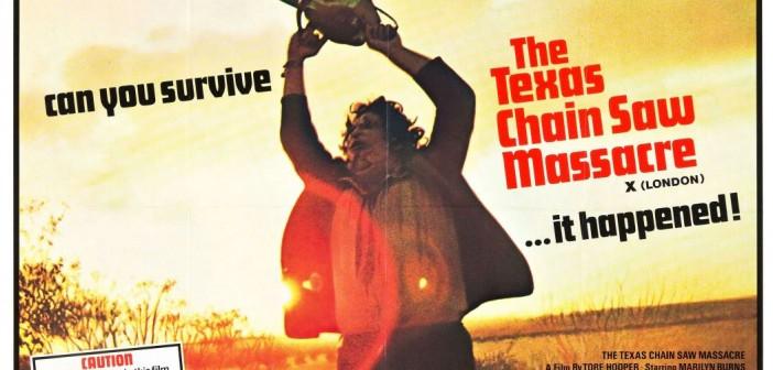 Texas Chain Saw Massacre UK poster, dir. Tobe Hooper, 1974