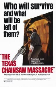Texas Chain Saw Massacre poster, dir. Tobe Hooper, 1974