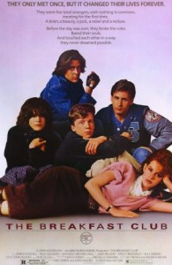 The Breakfast Club poster dir. John Hughes, 1985
