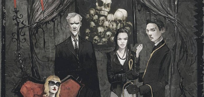 The October Faction #1, cover, Niles and Worm, Oct. 2014 banner
