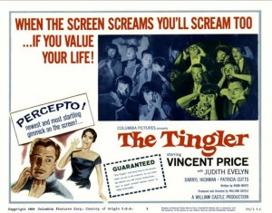 The Tingler poster, William Castle, 1959