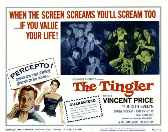The Tingler poster, William Castle, 1959
