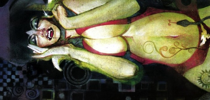 banner: detail from Vampirella After Klimt, Bill Sienkiewicz, pinup from Vampirella Quarterly, Spring 2007
