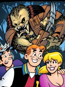 archie meets predator, writer alex decampi, artist unknown, archie comics and dark horse publishers