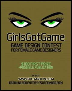 GirlsGotGame contest flier
