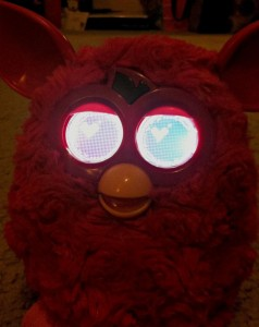 glowing eyed furby